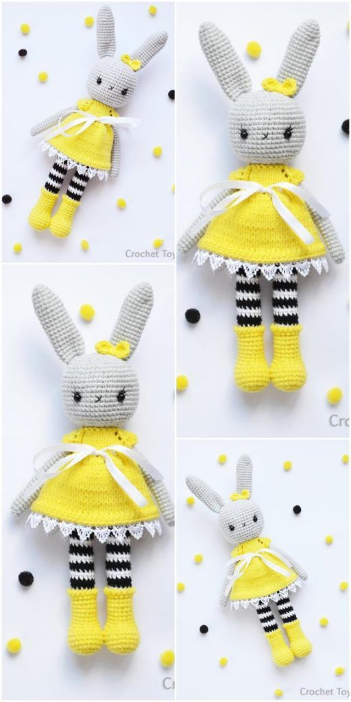 Crochet Amigurumi Bunny Toy Free Patterns Instructions | Crochet ... | 1024x512