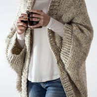 Free knitting pattern for Easy Cocoon Cardigan E