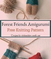 16 Extra Cute Amigurumi Knitting Patterns | AllFreeKnitting.com | 196x170